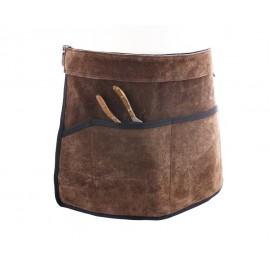 Cinturón portaherramientas de ante marrón