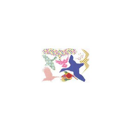 Pegatinas de pájaros de colores para ventanas