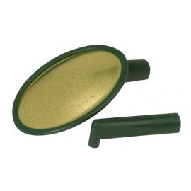 Recambio roseta regadera Haws oval plástico y bronce